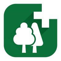 Λογότυπο υπηρεσίας δασικών χαρτών για αγρότες
